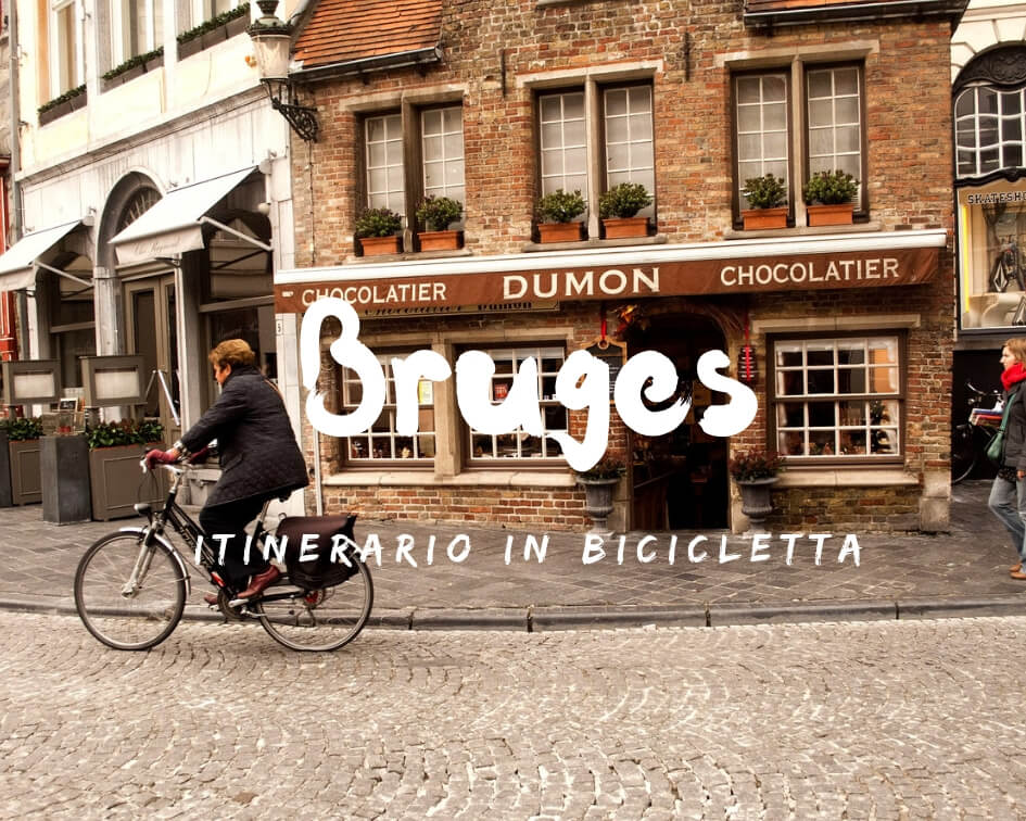 Itinerario in bicicletta a Bruges