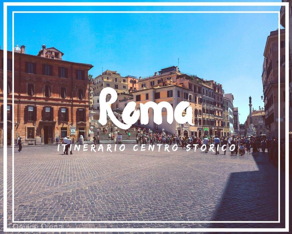 itinerario nel centro storico di Roma